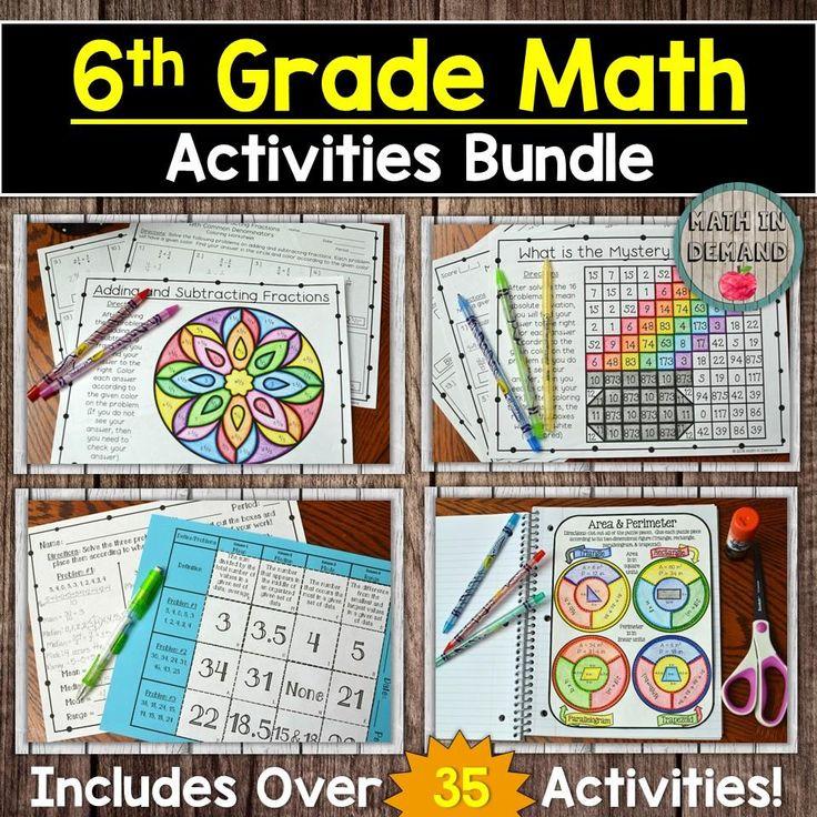 6th grade math curriculum bundle in 2020 math activities