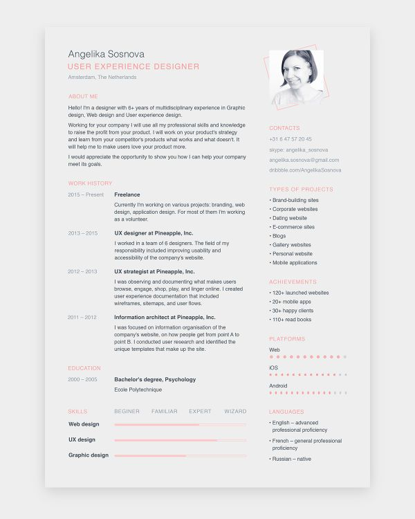 The Best Free Creative Resume Templates Of 2019 Skillcrush Indesign Resume Template Infographic Resume Template Resume Templates