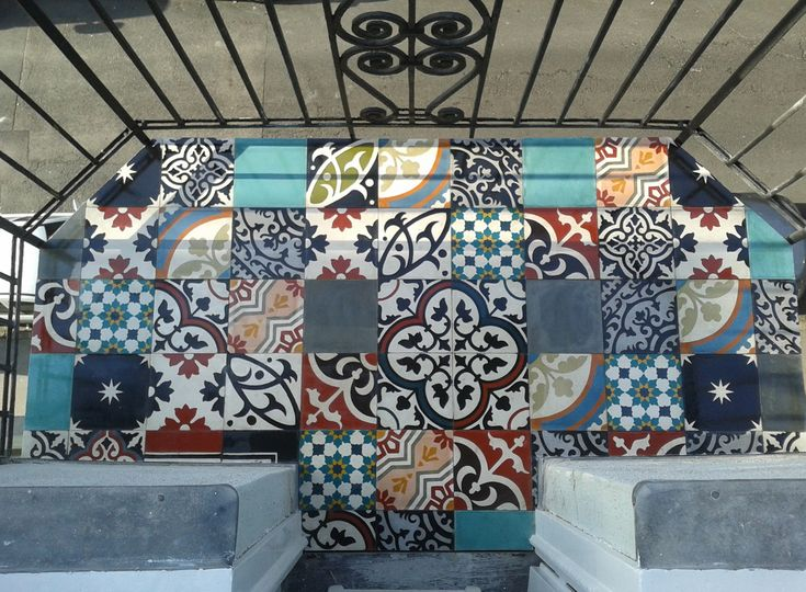Marrakesh Cement tiles look good on balconies too :-)