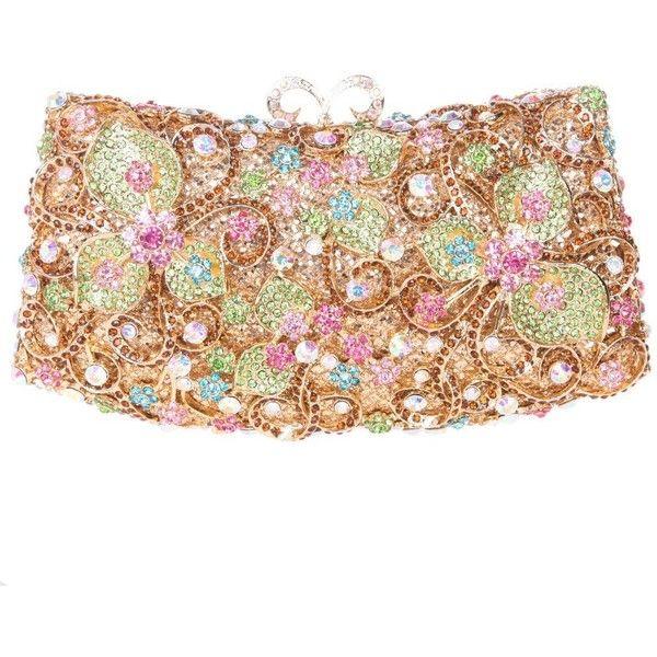 Fawziya Butterfly Clutch Chain Purse Women Rhinestone Clutch Evening... ($85) ❤ liked on Polyvore featuring bags, handbags, clutches, evening handbags, man bag, green clutches, evening bags and hand bags