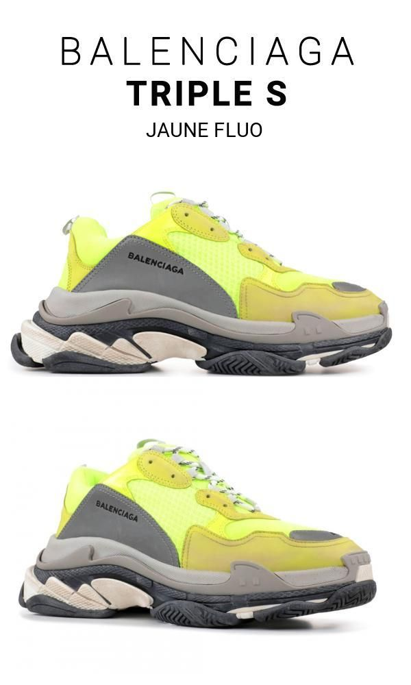 Balenciaga Triple S Trainers Jaune Fluo sneakers online