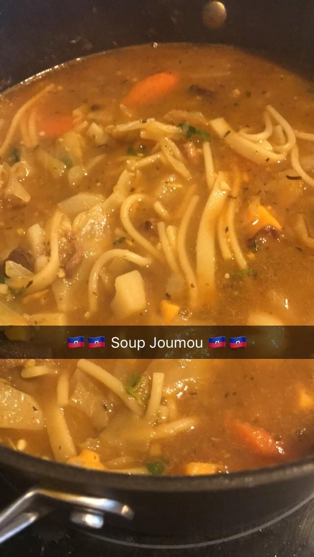 [homemade] soup Joumou for the Haitian Independence Day. I finally just got around to posting this