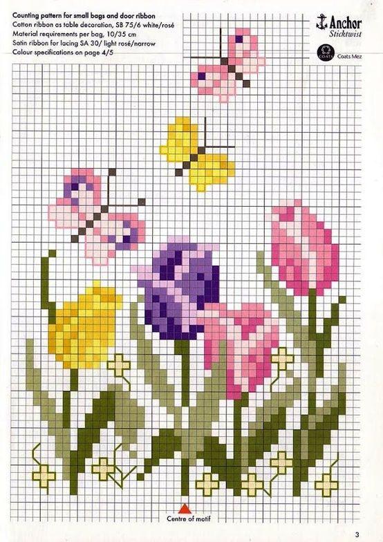 ♥Meus Gráficos De Ponto Cruz♥: Flores.