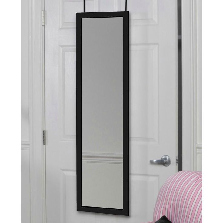 This Over the Door Mirror saves space and offers an essential service: you. Brackets hang this mirror without snags and jams so you can always close the door without worry.