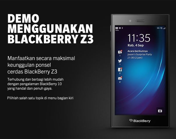 Demo BlackBerry Z3