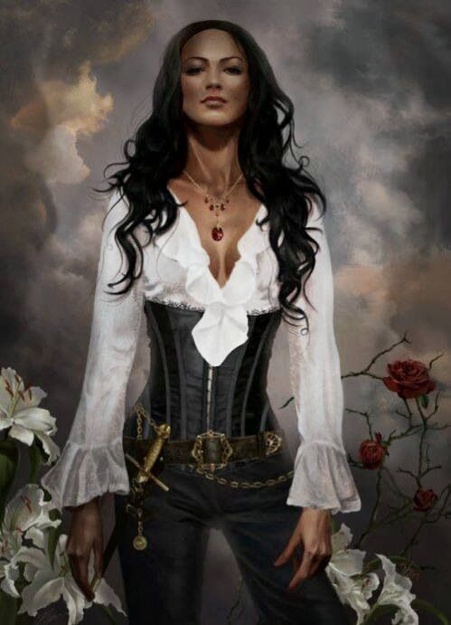 Simply beautiful Pirate style. Bet you have one of those corsets in your dresser drawer.