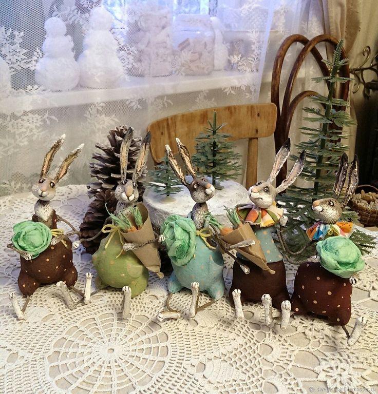 Братцы кролики (2шт) – купить или заказать в интернет-магазине на Ярмарке Мастеров | в наличии 2 кролика-см.главное фото.<br /> …