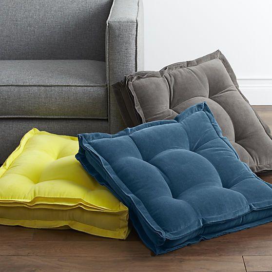 Wonderful Oversized Floor Cushions Velvet Cushionsfloor P Throughout Inspiration Decorating