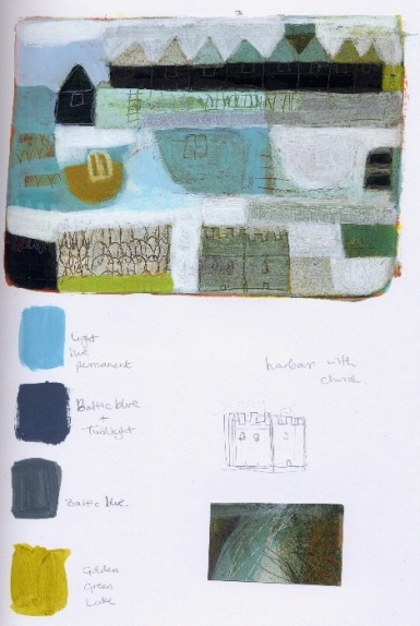 This is what I need to do: work out a colour palette for a group of paintings. Work by Anne Davies