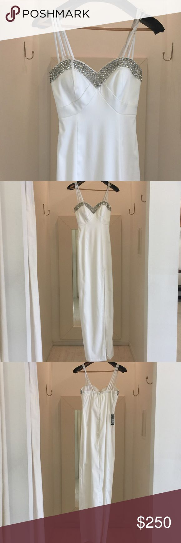 NWT- Faviana Gown Beautiful for prom, pageant or weddings!  We own a prom and pageant store, so if you're looking for something specific let me know!  Please check out my other listings- many brands and styles!  Selling at wholesale price to clear out inventory!  :) Faviana Dresses Wedding