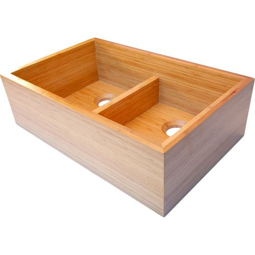 Marvelous Double Basin Bamboo Farmhouse Kitchen Sink   Designed With The Worldu0027s And  Your Kitchenu0027s Environments Both In Mind, The ALFI 33 In.