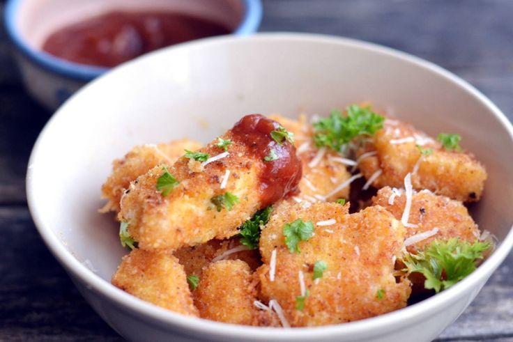 Parmezános csirkefalatkák recept