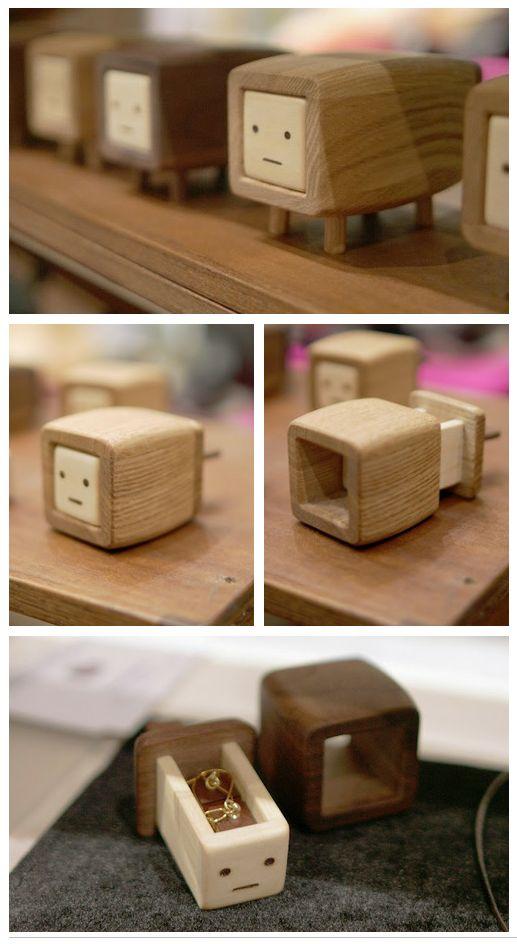 Petites boites en bois