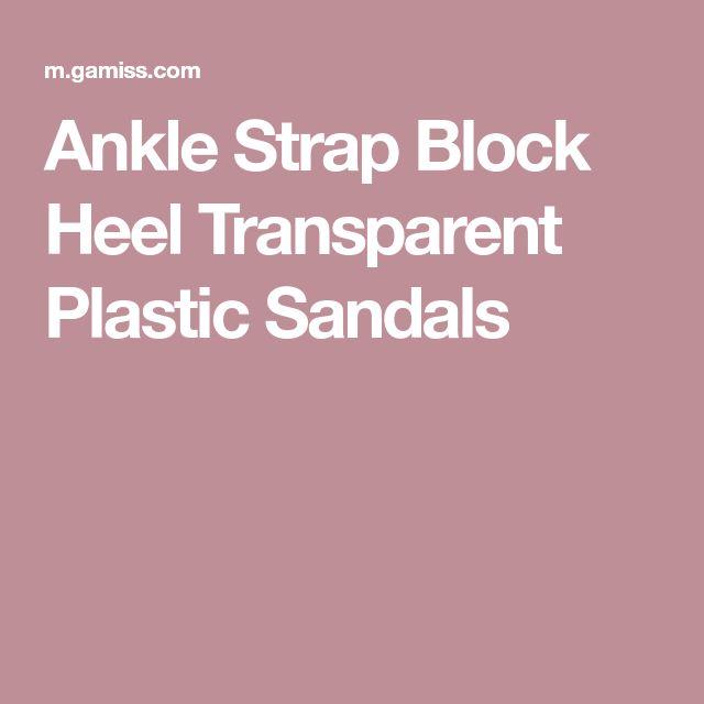 Ankle Strap Block Heel Transparent Plastic Sandals
