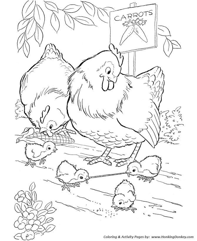 23 best Coloring Pages Farm Life images on Pinterest