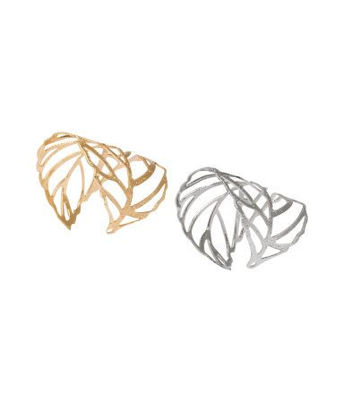 2-pack Rings | Silver-/gold-colored | Ladies | H&M US