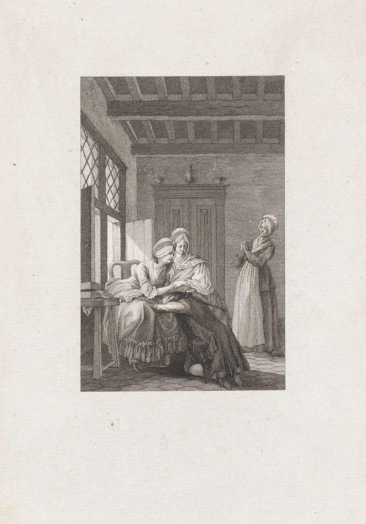 Man huilt uit bij twee vrouwen, Reinier Vinkeles, 1779