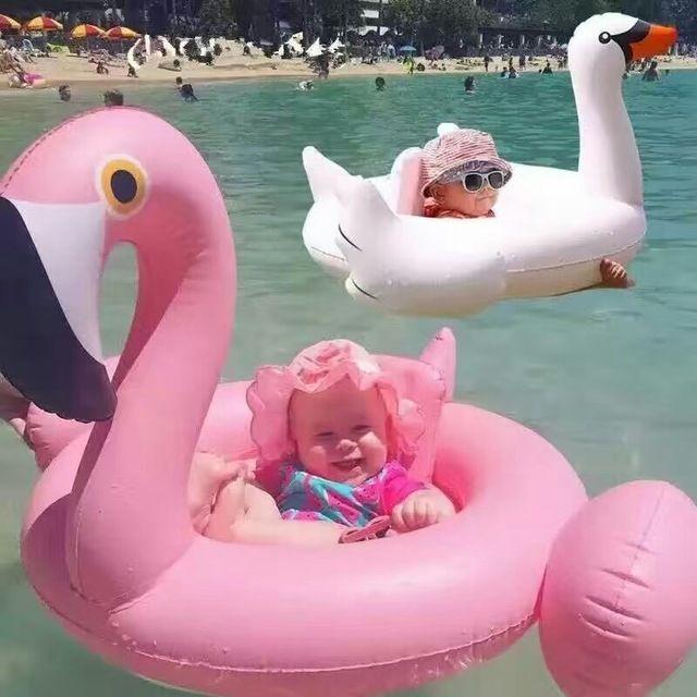 2 Renkler Yaz Bebek Pembe Flamingo Yüzme Halka Şişme Kuğu Yüzmek şamandıra Su Eğlence Havuzu Oyuncaklar Yüzmek Halka Koltuk Tekne Çocuklar yüzme