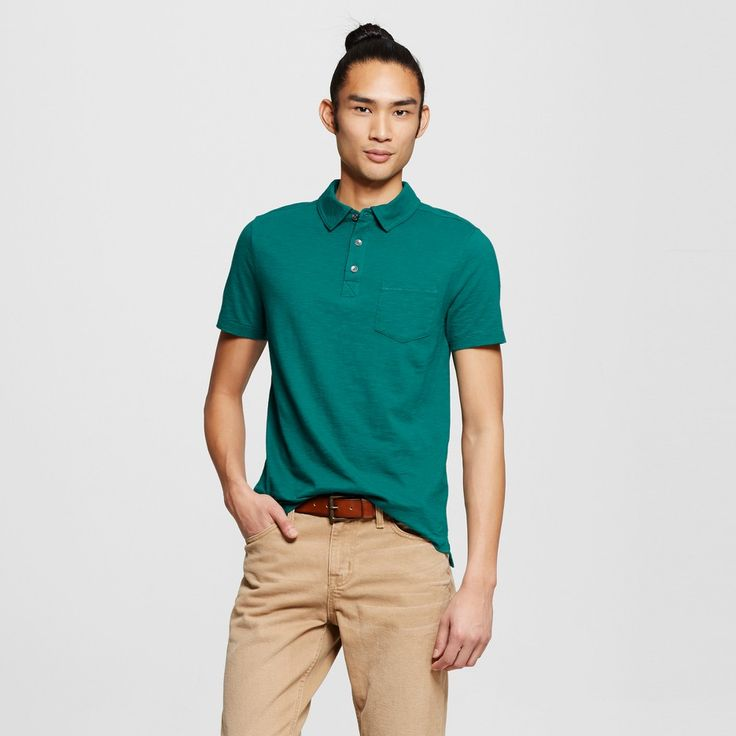 Men's Polo Shirt Green Xxl - Mossimo Supply Co.