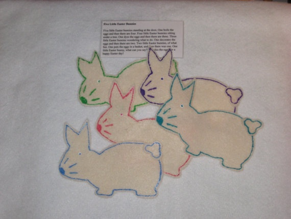 Five Little Bunnies by MissKellysFelt on Etsy, $4.00