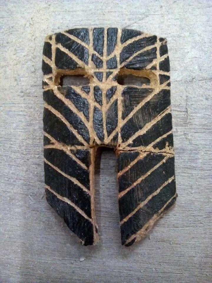 Mask - ceramics  M. Kramulova