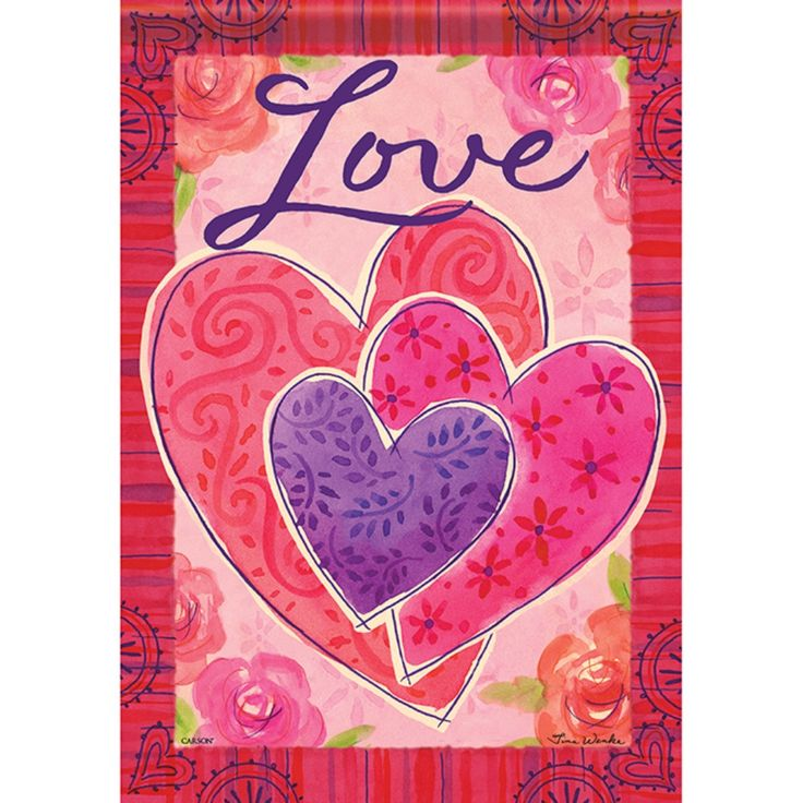 20 best Valentine Decorative Flags images on Pinterest | Garden ...