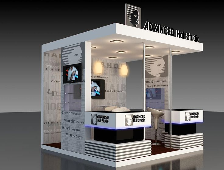 Hair Expo Stands : Mall kiosk designer fabricator india stall design