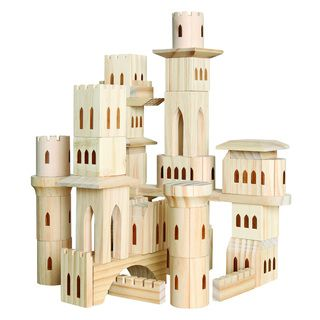 Discovery Kids 69-piece Wooden Castle Block Set...this looks so cool!