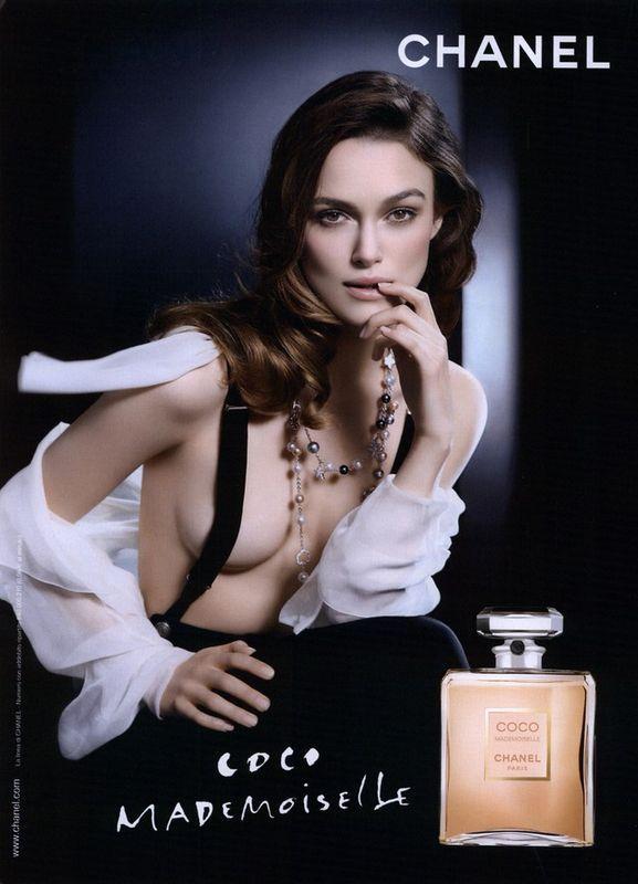 Keira Knightley w kampanii perfum Coco Mademoiselle, 2009 rok,