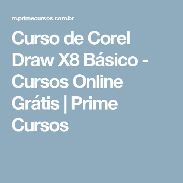Curso de Corel Draw X8 Básico - Cursos Online Grátis | Prime Cursos