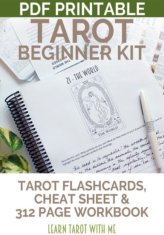 Tarot Beginner's Kit Learn the Tarot Card by LearnTarotWithMe