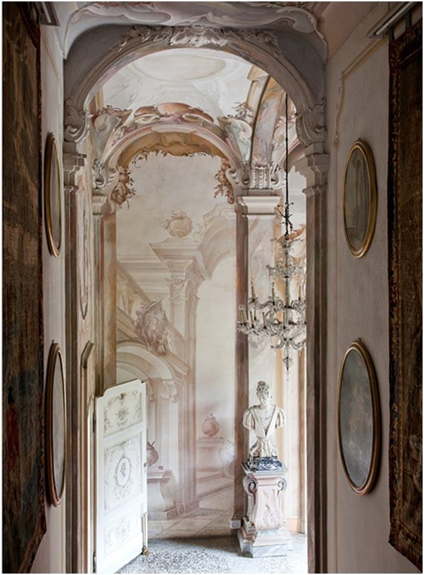Neoclassical opulent interior of Villa Sola Cabiati on Hello Lovely