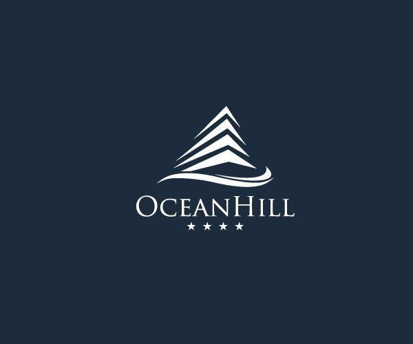 oceanhill-4-star-hotel-logo-design