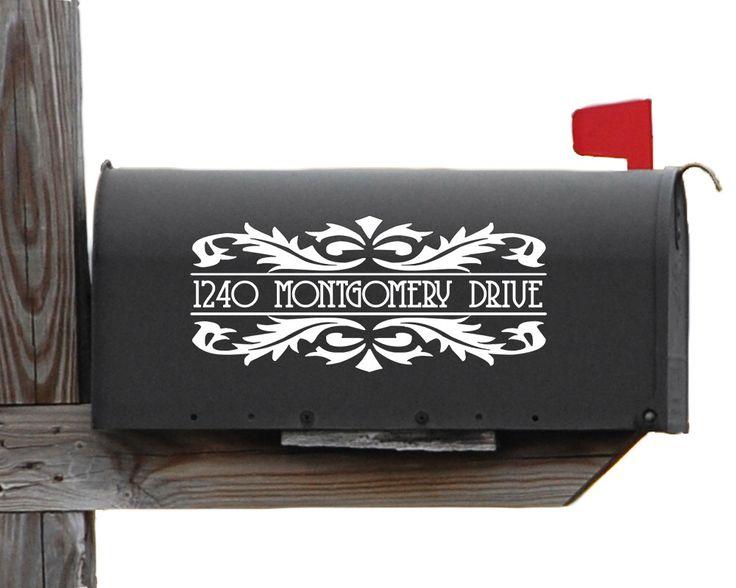 Victorian Mailbox Decal - Custom Mailbox Decal - Vinyl Address Decal