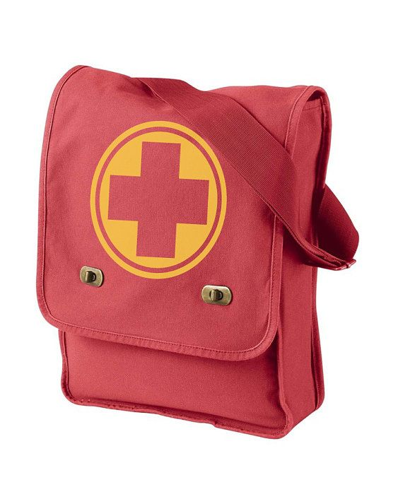 Awesome Team Fortress 2 styled messenger bags! RED or BLU and any of the 9 class symbols!