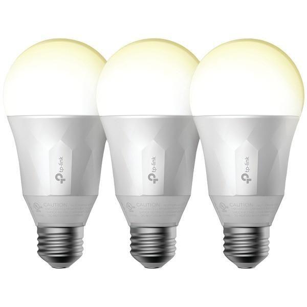 TP-LINK LB100 TKIT 600-Lumen Smart Wi-Fi(R) Bulbs with Dimmable Light, 3 pk