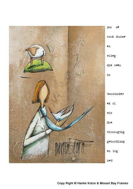 Hanlie Kotze Prints - Available : HK13002 MAN DUIF DAS