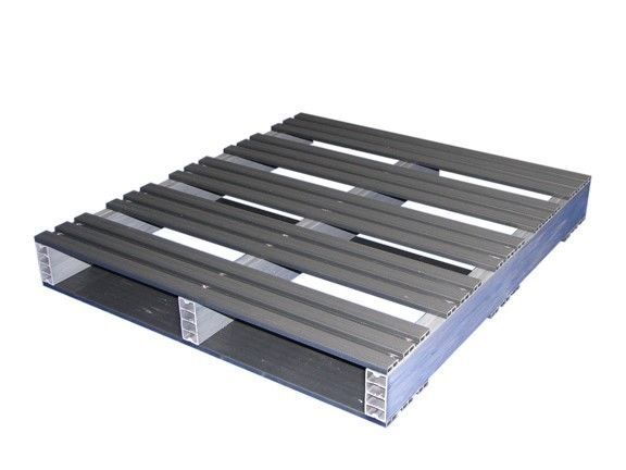 36x32 2-Way Entry Recycled Plastic Pallet with 2000 pound weight capacity
