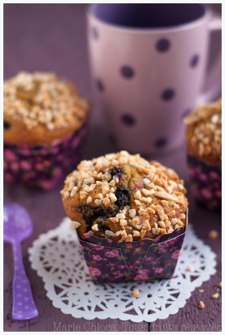 Muffins bio aux mûres sauvages, façon gâteau au yaourt (Sans lait, IG bas)