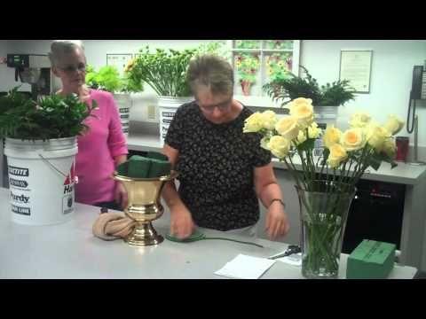 Altar Flower Arrangement STEP ONE - YouTube