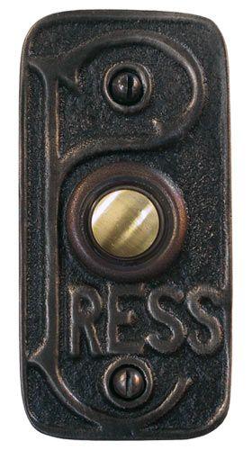 Waterglass Studios Handmade Art Nouveau Style Solid Brass Door Bell Style 1612