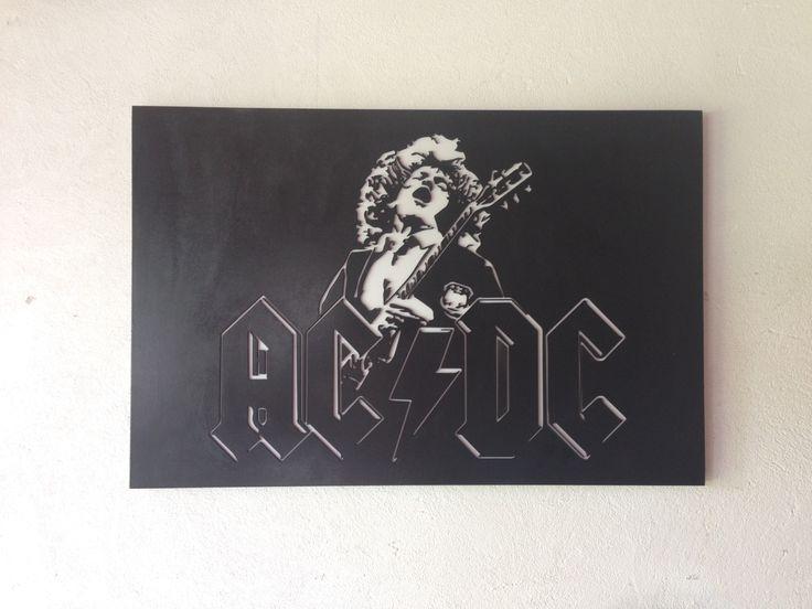 AC/DC MDF, laser cut