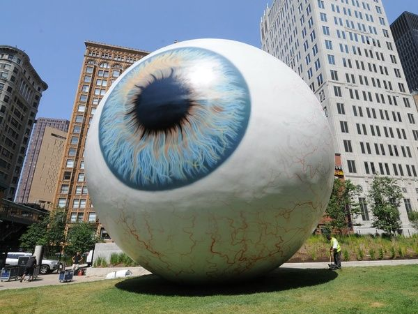 Downtown Dallas gets a surrealistic twist with the unveiling of Eye, an iconic work by multimedia artist Tony Tasset currently being installed at 1607 Main St. across from The Joule hotel. The iris — based on Tasset's own baby blues — arrives on Monday, August 26 and will be on display through September.