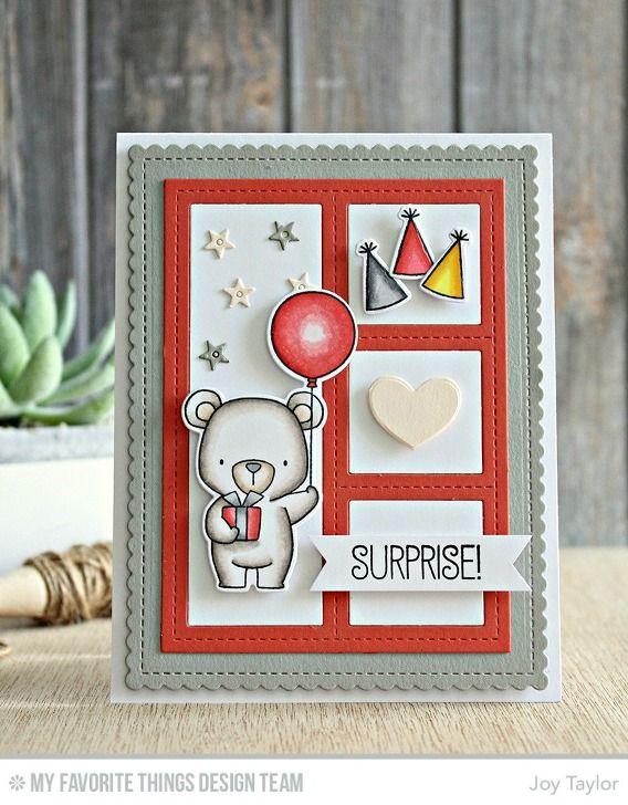 card critters bear MFT Beary special Birthday Die-namics MFT Blueprints 27 Die-namics #mftstamps