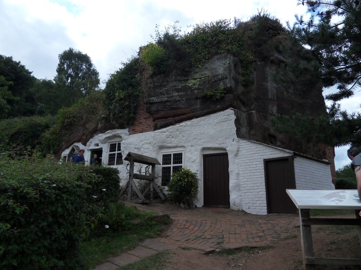 Kinver Edge rock houses.  An interesting place where houses have been built into the rockface.  There is a great walking area at the top that is home to free roaming cows and a fantastic view.
