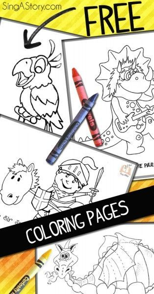 Free coloring pages for the kids- cute!