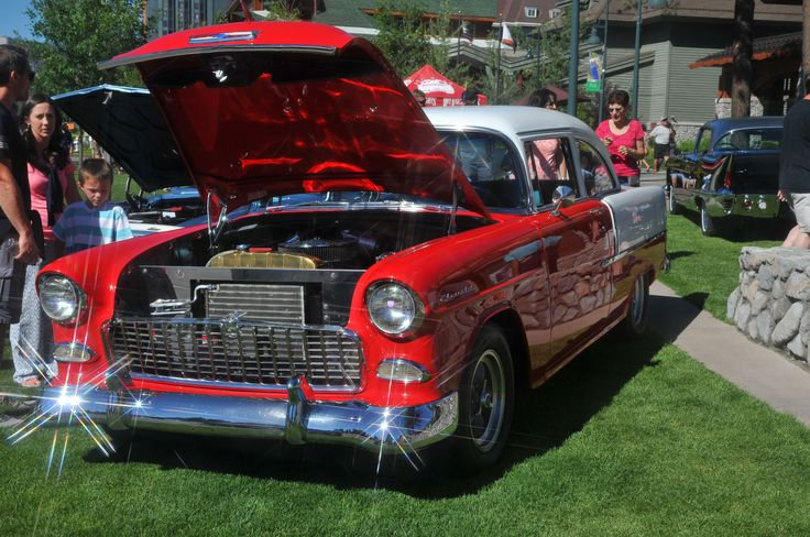 The famous '55 Chevy in Lake Tahoe - original photo by M Lee