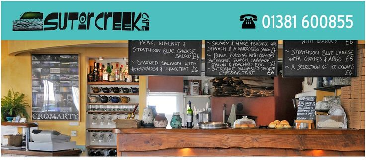 Sutor Creek, Cromarty - a relaxed family restaurant offering deliciously cooked food and wood-fired pizzas in Easter Ross, Highlands