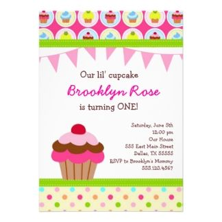 15 best cupcake invitations 1st birthday images on pinterest bright cupcake invitations first birthday party filmwisefo