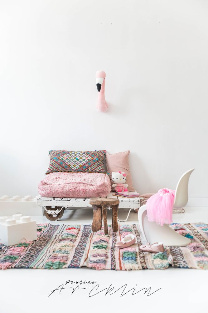 © Paulina Arcklin | El Ramla Hamra carpets & poufs for Kids…